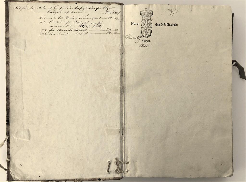Protokoll med Stemplet papir 1800